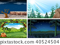 Four Different Nature Day and Night Scene 40524504