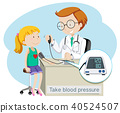 A Girl Take Blood Pressure with Doctor 40524507