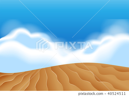 Sand Dune scene illustartion 40524511