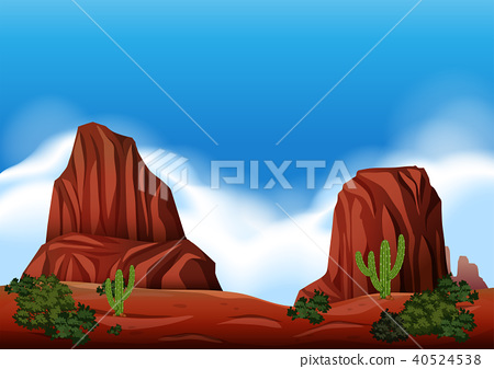 Desert Rock Scene in Nature 40524538