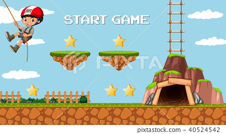 Adventure Mining Game Template with Boy Character 40524542