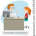 A Doctor Giving Prescribe Medicine 40524819