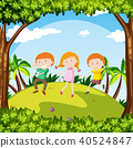 Kids Dance in a Garden 40524847