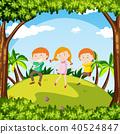 Kids Dance in a Garden 40524847