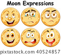 Six Different Moon Facial Expression 40524857