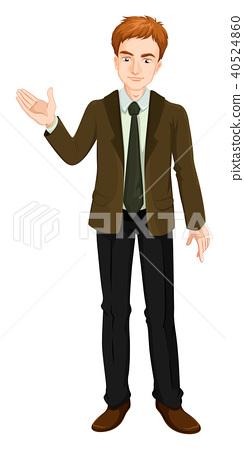 Businessman in brown suit 40524860
