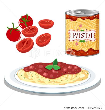 Pasta with Simple Tomato Sauce 40525077