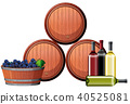 A Winery Element on White Background 40525081