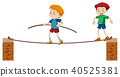 tightrope, vector, walk 40525381