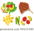Steak Element on White Background 40525385