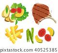 steak vector element 40525385