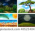 scene, vector, illustration 40525404