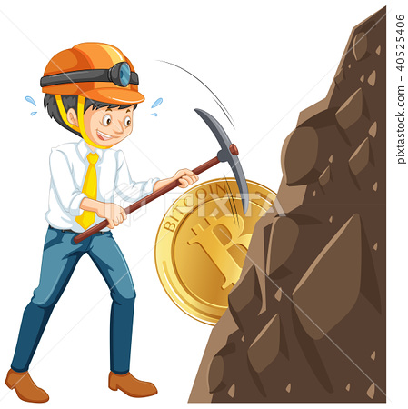 A Worker Mining Cyber Coin 40525406
