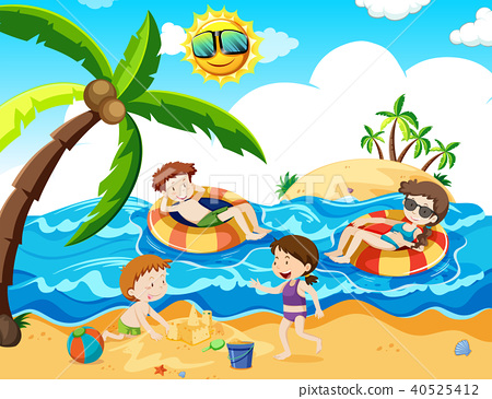 A Family Trip at th Beach 40525412