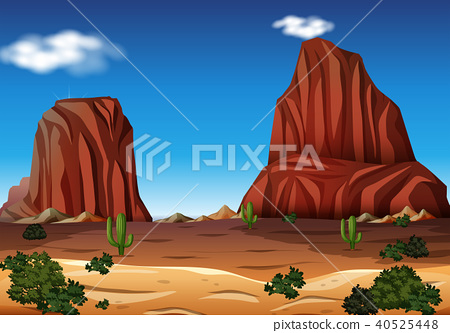 Rock Mountain in the Desert 40525448