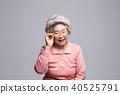 한국인, 노인, 흰머리 40525791
