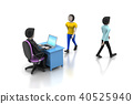 Employer and applicant, job hiring concept 40525940