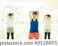 婦女做健身 40526655