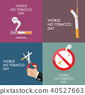 World no tobacco day poster set 40527663