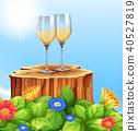 White Wine in Nature Scene 40527819