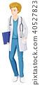 male doctor vector 40527823