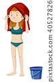 A Bikini Girl on White Background 40527826
