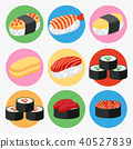 A Set of Japanese Sushi 40527839
