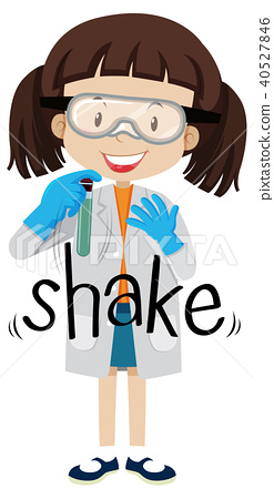 A Scientist Shaking a Test Tube 40527846