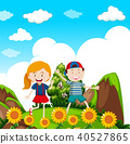 Kids Hiking in nature 40527865