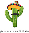 Mexican Style of Cactus on White Background 40527910