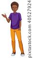 African american man in purple shirt 40527924