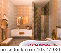 bathroom, interior, 3d 40527980