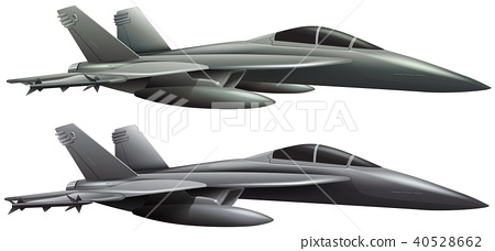 Two jet planes on white background 40528662