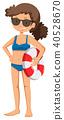 A Teenage Girl Wearing Bikini 40528670