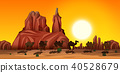 A Desert Scene with Camels 40528679