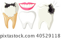 Tooth Decay on White Background 40529118