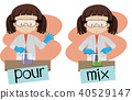Words pour and mix with girl doing experiment 40529147