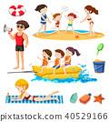 people beach vector 40529166