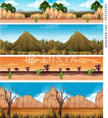 Four Different Beautiful Desert Landscape 40529184