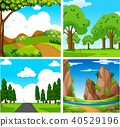 Four Beautiful Green Natural Landscape 40529196