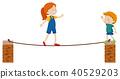 walk, rope, girl 40529203