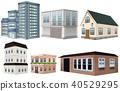 Modern Building on White Background 40529295