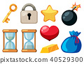 A Set of Game Element on White Background 40529300