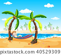 A Boy Relaxing under Palm Tree 40529309