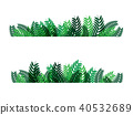 Green leaves frame vector abstract  nature 40532689