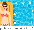 Sexy lady enjoy her summer holiday on the pool for 40533615