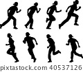 girl running silhouettes 40537126
