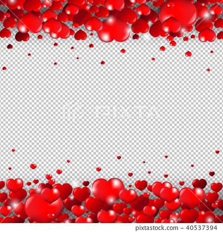 Valentines Day Border Transparent Background Stock Illustration