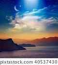 Ramadan Kareem background with crescent, stars 40537430