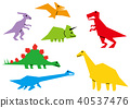 ไดโนเสาร์,สัตว์,ภาพวาดมือ สัตว์ 40537476